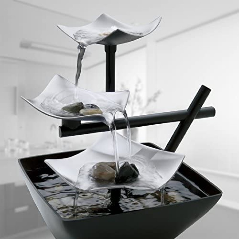 Decorative water fountains Relaxation Indoor Tabletop Fountain (Silver Springs)