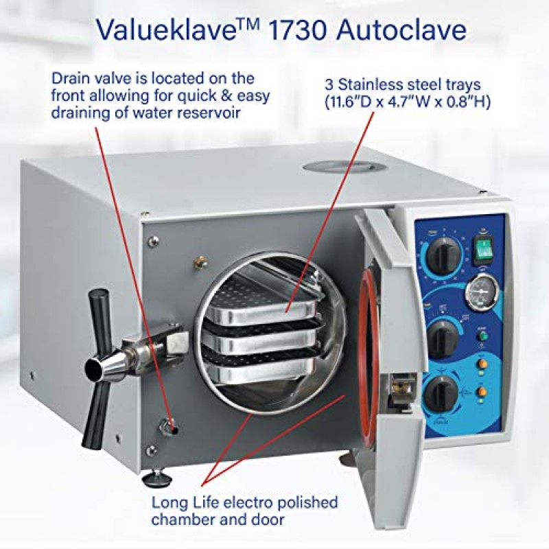 Tuttnauer 1730 Valueklave   Compact Footprint And Easy Operation   Ideal Autoclave For Small Offices