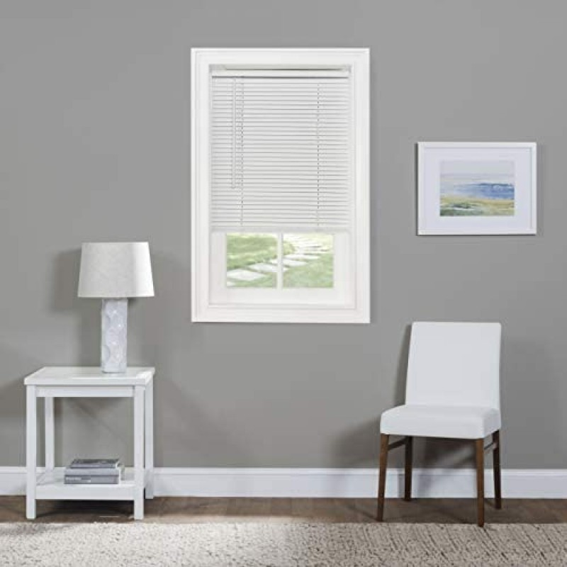 "Interior window blinds Home Furnishings Corded Morningstar 1"" Light Filtering Mini Blind, Width 28inch, Length 64inch Drop"