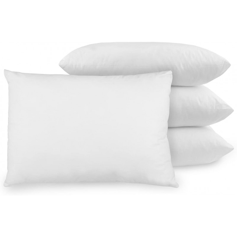 Pillows 4-Pack bed pillow with Built-In Ultra-Fresh Anti-Odor Technology, Standard Size, White, 4 Count