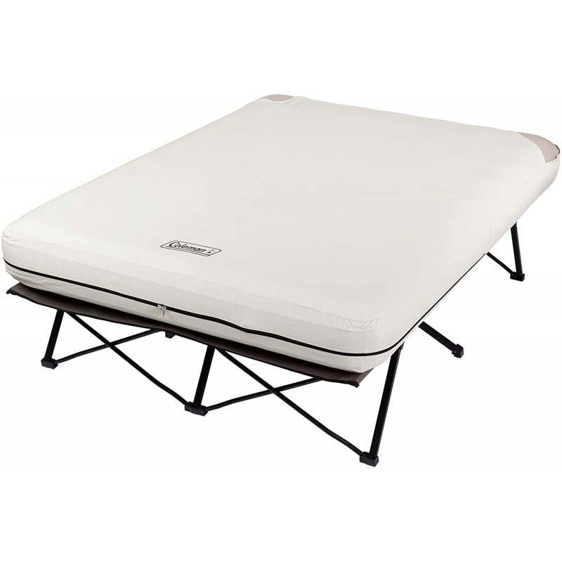 Camping mattresses Camping Cot, Air Mattress, and Pump Combo | Folding Camp Cot and Air Bed with Side Tables and Battery Operated Pump