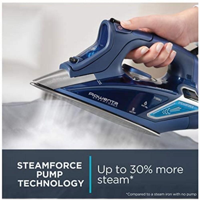 Flat irons  DW9280 Digital Display Steam Iron, Stainless Steel Soleplate, 1800-Watt, 400-Hole, Blue