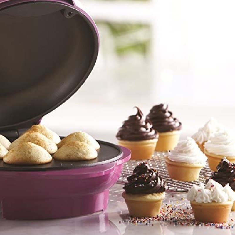 Electric cupcake makers  Mini Cupcake Maker Machine Non-Stick, 7, Pink