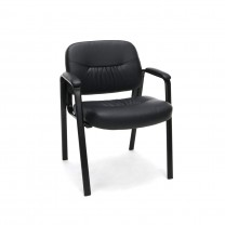 Chairs Bonded Leather Executive Side Chair, in Bla...