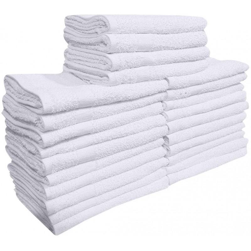 Face towels of textiles  24 Pcs (2 Dozen) White 16...