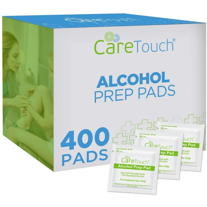 Care Touch Alcohol Prep Pads, Medium 2-Ply - 400 W...