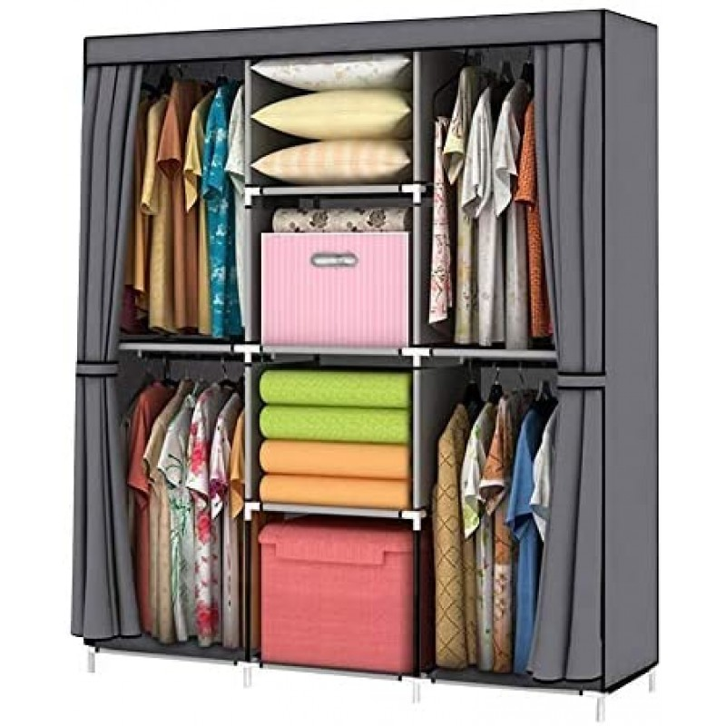 Wardrobes Wardrobe Storage Closet Clothes Portable Wardrobe Storage Closet Portable Closet Organizer Portable Closets Wardrobe Closet Organizer Shelf Wardrobe Clothes Organizer Standing Closet Gray