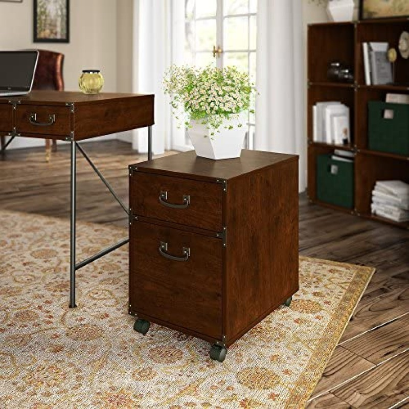Cabinet drawers for furniture cabinets Furniture kathy ireland Home Ironworks 2 Drawer Mobile File Cabinet, Coastal Cherry
