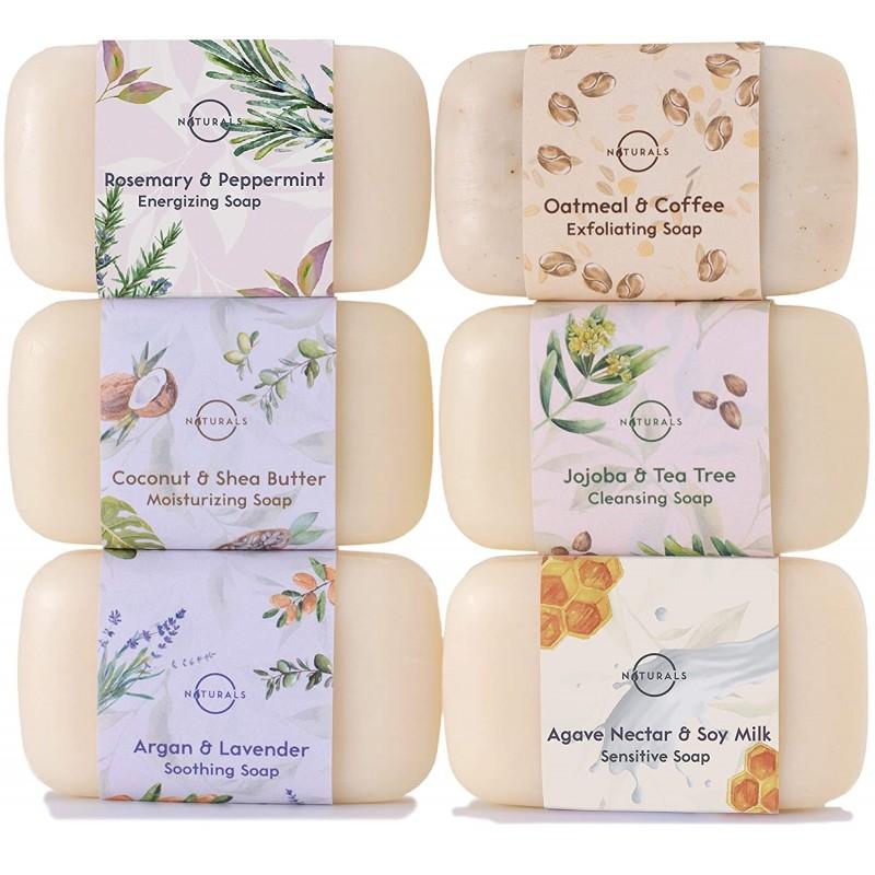 O Naturals 6 Piece Moisturizing Body Wash Bar Soap...