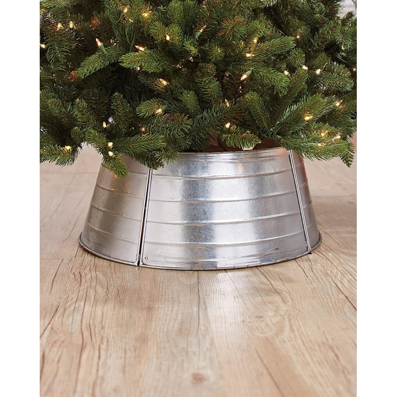 Christmas tree stand covers Galvanized Metal Chris...