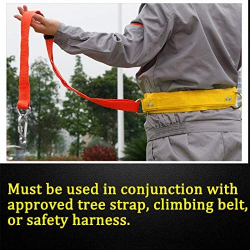 Harness straps Hunting Safety Harness, Tree Climbing Belt, Linemans Belt, Add Level of Safety for Hunting, Hanging Stand Or Step, Trimming Tree, Putting Up Deer Stand, Installing Steps, Ladder Or Climbing