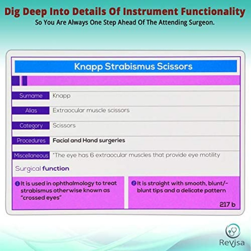 Surgical Instrumentation Flashcard for Technologists Exam,For Medical Students,Operating Room Nurses. Illustrated Instrument Index Cards for General Surgery Ob/Gyn Cardio,Orthopedics,Vascular 2