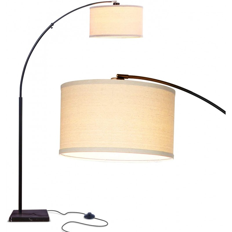 Arc lamps - Contemporary Arc Floor Lamp w. Marble ...