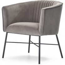 Adore Decor Leone Upholstered Accent Chair Velvet ...