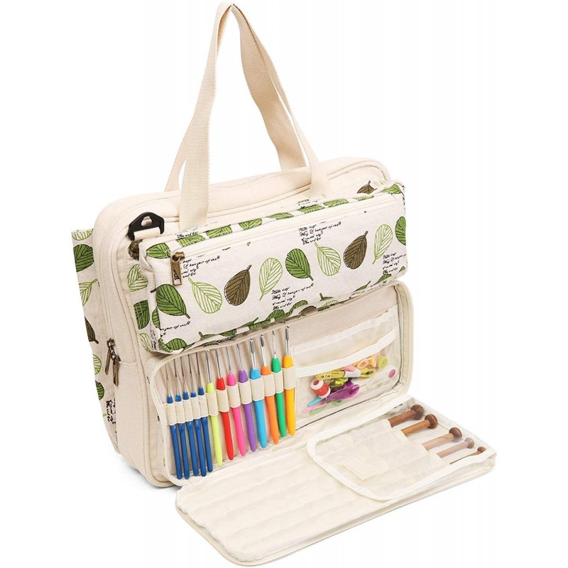 Knitting bags for carrying and holding knitting su...