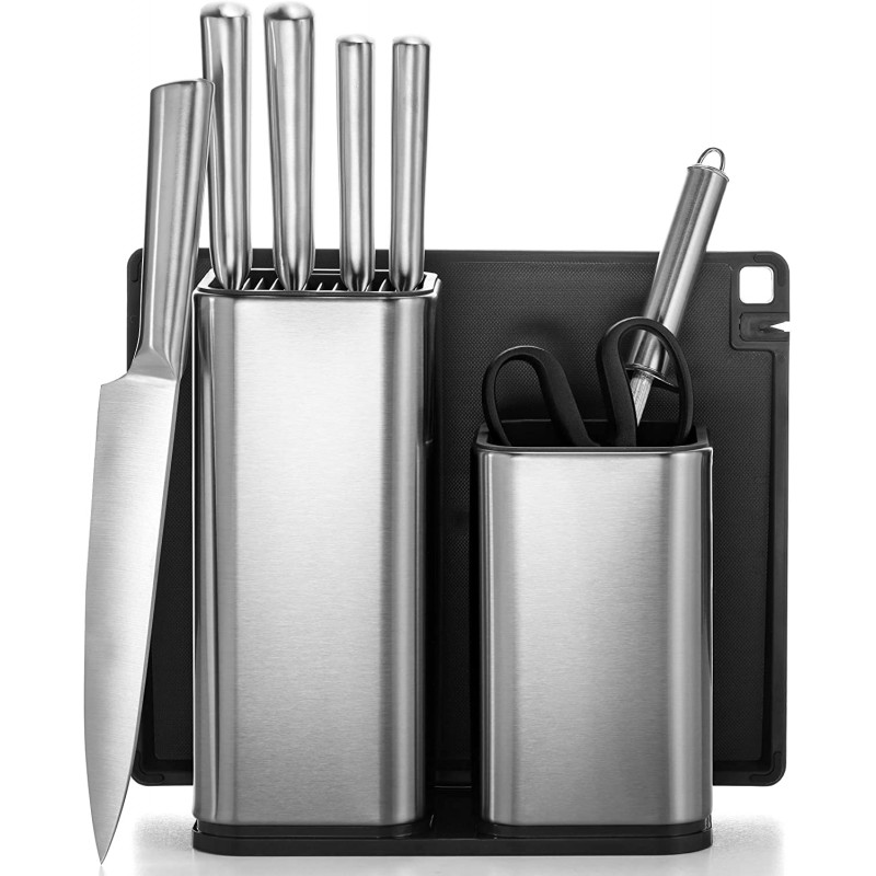 10-Piece Stainless Steel Kitchen Knife Set - Newly...