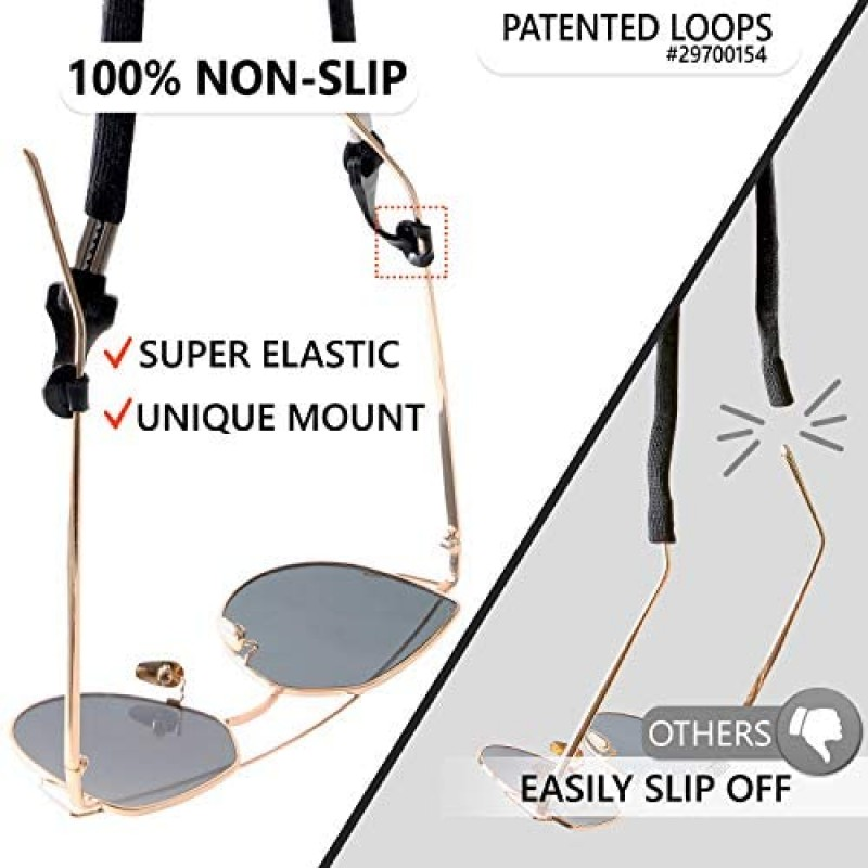 Eye glass cords Eye Glasses String Holder Strap - Eyeglass Straps Cords for Men Women - Eyeglass Holders Around Neck - Sunglasses String Chain Lanyard Retainer