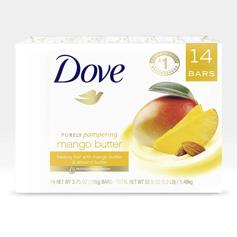 Dove Beauty Bar To Moisturize Dry Skin With Mango ...