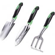 ZUZUAN Garden Tool Set, 3 Pack Garden Hand Shovels...