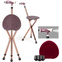 Walking stick seats Adjustable Folding Cane Seat, ...