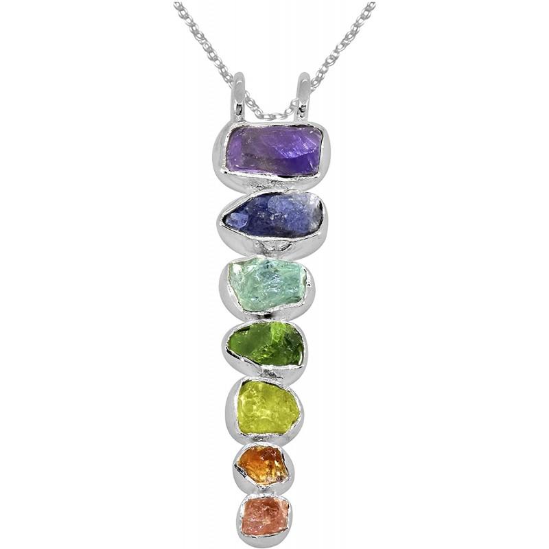 Gemstone jewelry Chakra Healing Gemstone Solid 925...