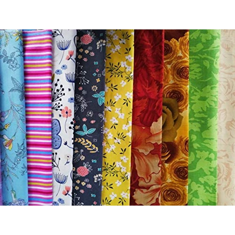 "4"" x 4"" (10 x 10cm) 200 PCS 100% Precut Cotton Fabric Squares Fabric Bundles for Sewing Quilt Potholders DIY& Quilting Beginners"
