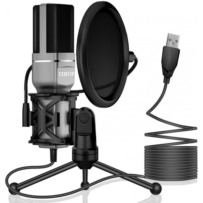 VIMVIP USB Condenser Microphone for Computer, USB ...