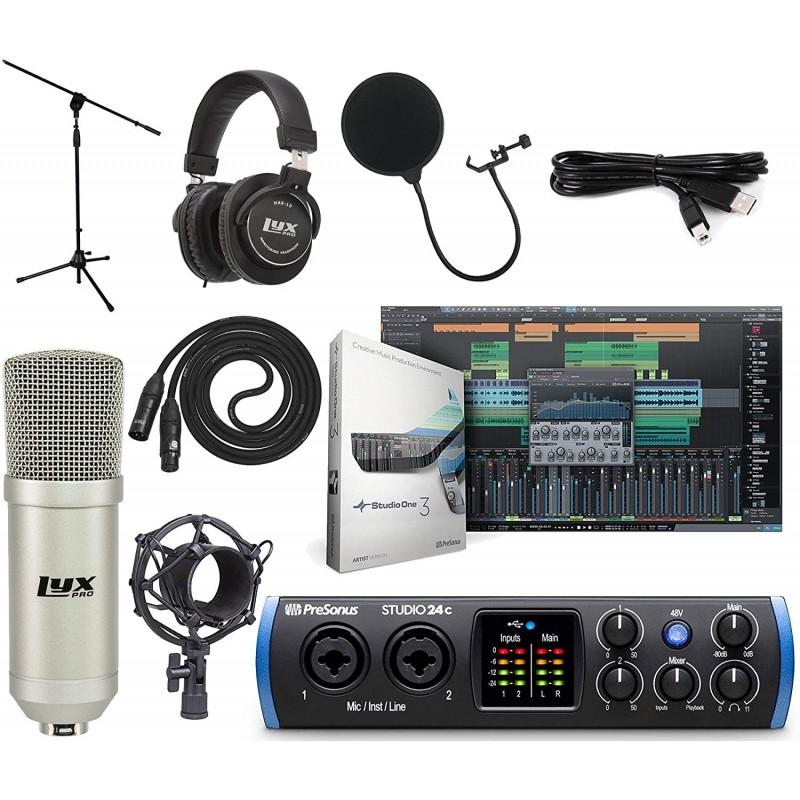 PreSonus Studio 24c 2x2 USB Type-C Audio/MIDI Inte...