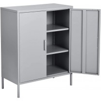 Metal cabinets Double Door Locker Metal Cabinet wi...