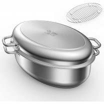 roasters Roasting Pan with Rack and Lid 12 Quart,1...