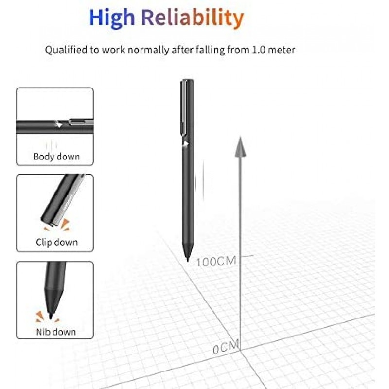 Computer styluses  USI Stylus Pen for Chromebook with 4096 Levels Pressure for Lenovo chromebook Duet, ASUS chromebook C436, HP chromebook X360 12b, HP chromebook X360 14b,Including AAAA Battery & Spare Tip