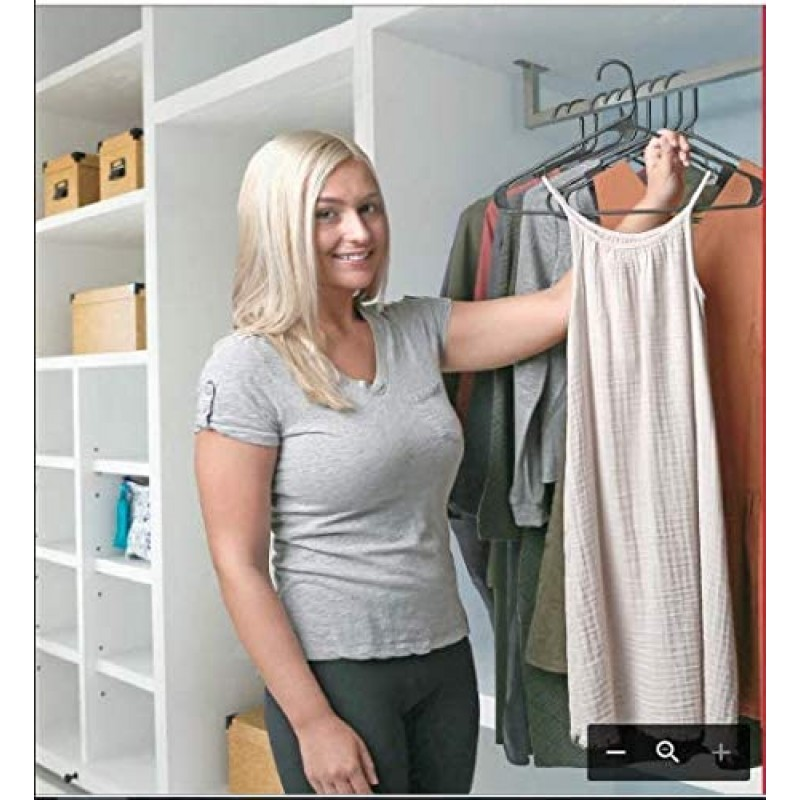 hangers Plastic Hangers Clothing Hangers Ideal for Everyday Standard Use (Black, 20 Pack)