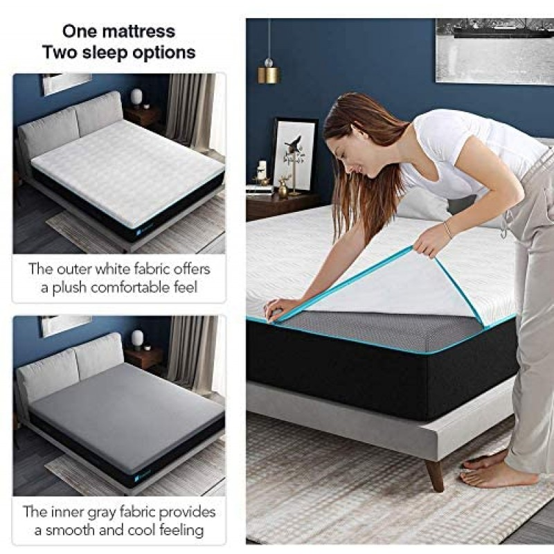 Spring mattresses King Mattress,  King Size Mattress in a Box, 9 Inch King Size Memory Foam Mattress King with Removable and Washable Mattress Cover, Medium, Ultimate Supportive, CertiPUR-US & ISPA