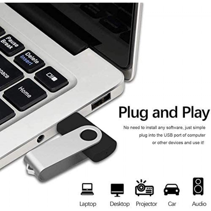 Memories for use with computers USB Flash Drive 2.0 USB Thumb Drives External Data Storage for Storing Photo/Video/Music/FileDrive with Rotated Design Memory Stick Storage for Computer/Laptop (1TB, Black)