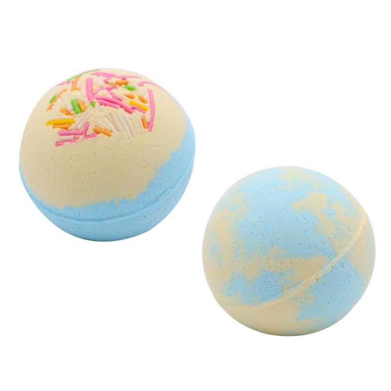 Foam bath  Organic Children's News Shower Bomb Carbonated Foam Bath Box Packaging Cake Bath Bomb Gift Set (Milk)