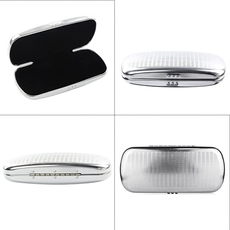 spectacle cases Glasses Case Spectacle Case Box Aluminum Frosted Matte Eyeglass Case Sliver