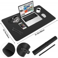 mouse mats  PU Leather Desk Pad, Large Mouse Pad, ...