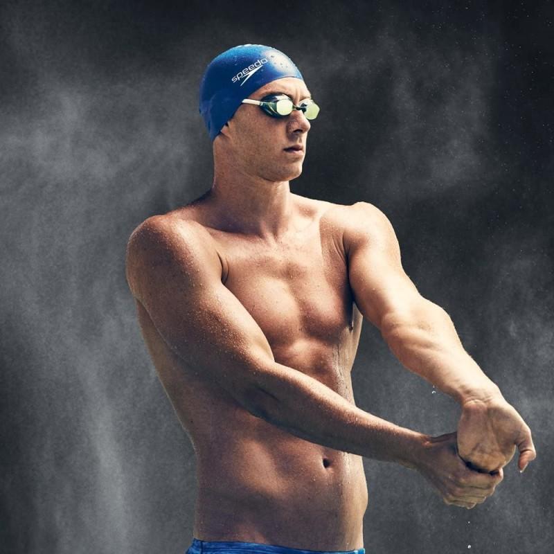swimming goggles  Unisex-Adult Swim Goggles Mirrored Vanquisher 2.0 Blue
