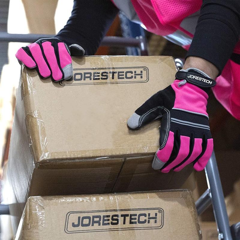 Protective work gloves  Work Gloves Multipurpose (Medium, Pink)