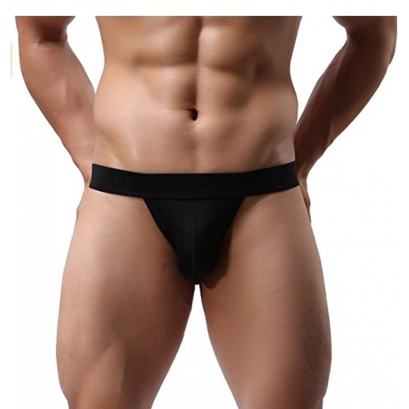 Athletic supporters  Men's Athletic Supporter Performance Jockstrap Elastic Waistband Underwear  2-pack Black