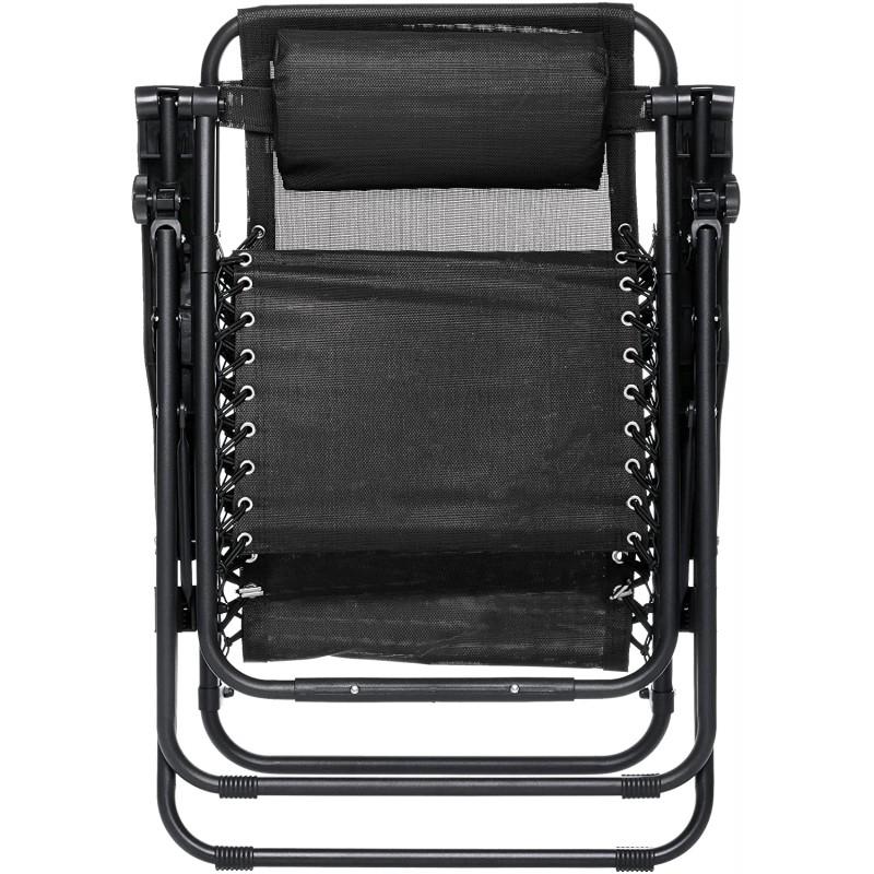 Deck chairs Outdoor Zero Gravity Lounge Folding Chair, Black