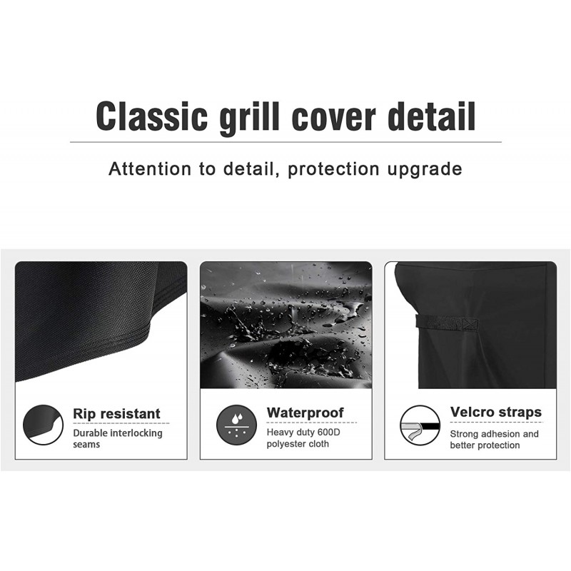 Fitted covers for barbecue grills 7130 Grill Cover for Weber Genesis II 3 Burner Grill and Genesis 300 Series Grills (Compared to 7130) including Brush, Tongs and Thermometer Genesis II 3 Burner - 58''