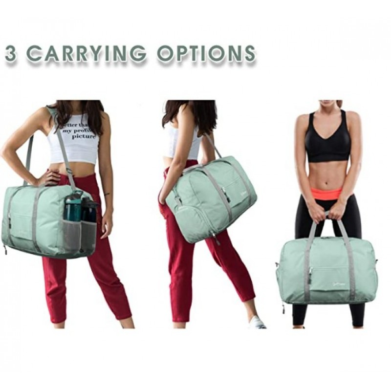 Gym bags Sports Gym Bag with Wet Pocket & Shoes Compartment, Travel Duffel Bag for Men and Women Lightweight 1-Mint Green
