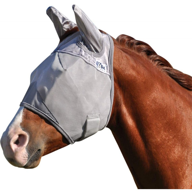 Fly masks for animals Cashel Crusader Standard Mule Donkey Fly Mask with Ears, All Sizes Gray