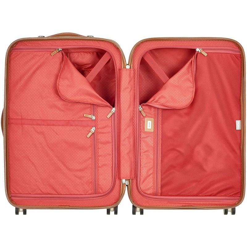Luggage Chatelet Hardside Luggage with Spinner Wheels, Champagne White, Carry-on 21 Inch, No Brake