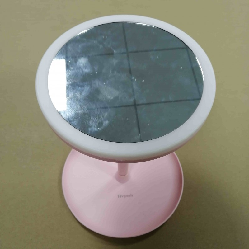 Hvyesh Personal Compact Mirrors Handheld Travel Mirror With 5X Magnification And 1x True View, Perfect For Purse, Pocket And Travel, Pink