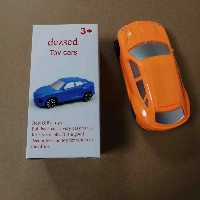 dezsed  toy vehicles Orange Children's Small Toy C...