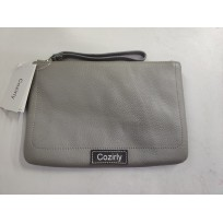 Cozirly  handbags for ladies gray Leather Wristle...