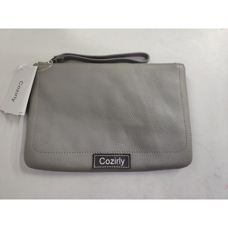 Cozirly  handbags for ladies gray Leather Wristlet