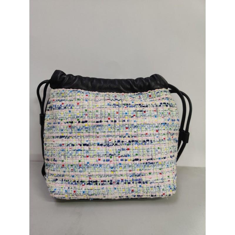 GedWud Women's shoulder bag metal chain strap side zipper pocket
